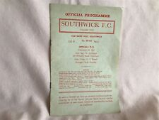 More details for 1975 rare non league southwick fc programme in good well used vintage condition