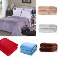 100*150 Plain Sherpa Coral Fleece Blanket Soft Luxury Warm Home Sofa Bed Throw