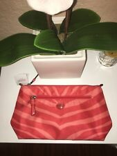 Coral COACH cosmetic makeup bag