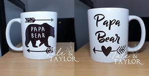 Beautiful Papa Bear Mug Daddy Dad Fathers Day Mug Gift Father's Day Present