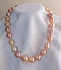 Japanese KASUMI PEARL Princess Length Necklace .925 Sterling Silver Clasp
