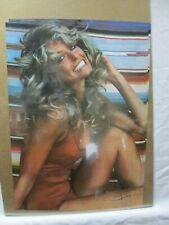 FARRAH FACET VINTAGE POSTER BAR GARAGE MAN CAVE HOT GIRL 1976 CNG683