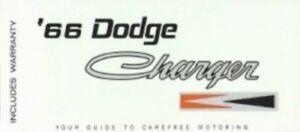 DODGE 1966 Charger Owner's Manual 66