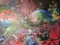 MONUMENTAL LARGE SPACE AIRBRUSH PAINTING ORIGINAL ABSTRACT SURREALISM