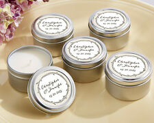 24 Personalized The Hunt Is Over Woodland Round Candle Tins Wedding Favors