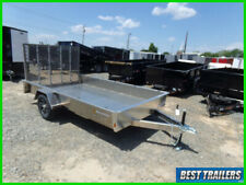 2021 belmont 7 x 12 aluminum utility trailer New solid sides single axle 81 x 12