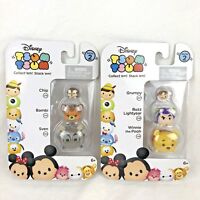 Disney TSUM TSUM 3 Pack Series 2 Mini Toy Figures Chip Bambi Sven NEW Lot of 2
