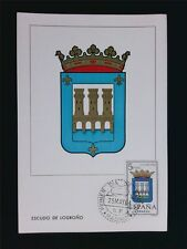 SPAIN MK 1964 ESCUDO LOGRONO WAPPEN BLAZON MAXIMUMKARTE MAXIMUM CARD MC CM c5959
