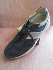La Martina Lote 60 brown nylon suede leather sneakers trainers 45 11