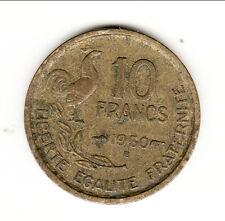 RARE 10 FRANCS COQ 1950 B SUP