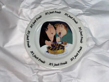 """Erika Oller 2000 """"It's Just Fruit� 7 1/2� Round Dessert Plate By House Of Peril"""