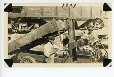 Charlottesville VA Rare RPPC-Size Photo—Black Mani in Truck@Valentine&Hull TRAIN