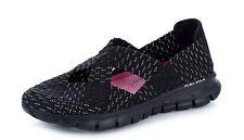 Skechers Synergy Stretch Weave Cross Over Mary Jane Shoes Black UK7 EU41 LN08 05