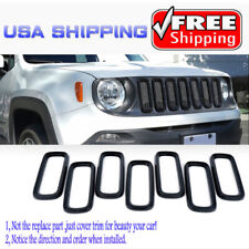 7x Front Upper Grill Grille Insert Cover Trim Frame For Jeep Renegade 15-17 Red