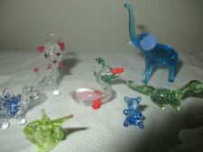 VINTAGE LOT OF 10 HAND BLOWN HANDCRAFTED ART GLASS DOLLHOUSE MINIATURES 1:12