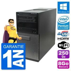 PC Tour Dell OptiPlex 390 MT G630 RAM 8Go Disque Dur 250Go HDMI Windows 10 Wifi