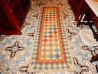 ANTIQUE COLORFUL HAND KNOTTED CARPET RUNNER CIRCA 1920 TRIBAL