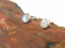 Rainbow MOONSTONE  Sterling Silver 925 Gemstone Earrings / STUDS - 5 x 7 mm
