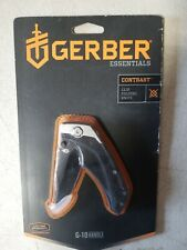 NEW GERBER 31-000595N CONTRAST DROP POINT FINE PLAIN EDGE KNIFE G-10 STAINLESS