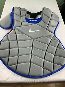 "NIKE PRO GOLD CATCHER 18"" CHEST PROTECTOR GRAY/ROYAL BLUE NAVARRO"