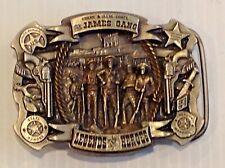 Jessie James .james gang legends & heroes belt buckle.vintage 1996
