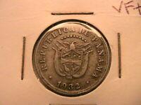 1932 Panama 5C Five Cents VF+ Very Fine Republica de Panama 5 Centesimos Coin