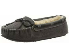 New Minnetonka Moccasin Womens 11 M Cally Slipper Grey Gray Suede Shoes 4015