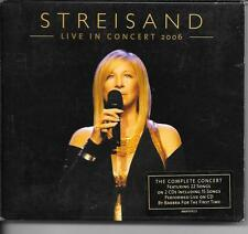COFFRET DIGIPACK 2 CD LIVE 31 TITRES--BARBRA STREISAND--LIVE IN CONCERT 2006