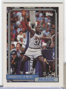 1992-93 Topps #362 Shaquille O'Neal' 92 Draft Choisissez Débutant RC 040621DBCD