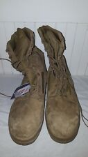 Bates DuraShocks Brown Suede Steel Toe Military Tactical Boots - Men's Size 15