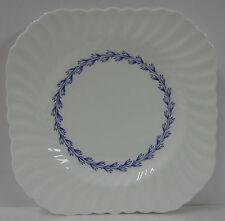 "Minton CHEVIOT BLUE S-451 8-5/8"" Square Luncheon Plate No Trim, White Background"