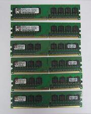 KINGSTON KVR 99U5315-012.A00LF RAM KVR667D2N5K2/1G DDR2 * LOT OF 6 *