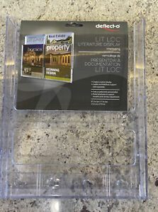 Deflecto Lit Loc Interlocking Magazine Size Literature Display, 772001RT