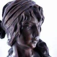 Art Nouveau Bronze Girl Bust / Sculpture , Art, Gift, Ormanent.