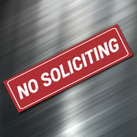 """(1) NO SOLICITING Sign Sticker Business Window Door Decal Store 1.5""""x5.5"""" NEW"""