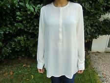 """""""heine"""" kragenlose Damen - Bluse beige Gr. 38 Polyester"""