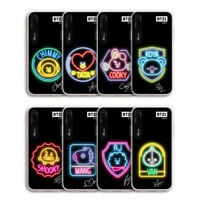 Official BT21 Neon Garphic Light UP Smart Phone Case for iPhone by Line Friends