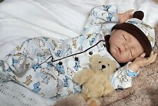 TEDDY BEAR DREAMS Baby! Lifelike Collectible 18 IN Newborn Boy Doll + 2 Outfits