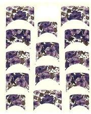 One Stroke Sticker,French, lila Blumen ,Tattoo, Aufkleber  Nr.1132
