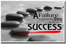 N-171 Inspirational Quote Success /& Failure Silk Poster 12x18 24x36 27x40