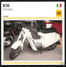 1953 Moto Rumi 125cc Scoiattolo Italy Scooter Moped Motorcycle Photo Spec Card