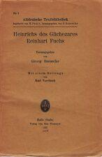 Heinrich des Glichezares Reinhart Fuchs   1925