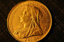 """1900  BRITAIN FULL SOVEREIGN """"QUEEN VICTORIA"""" Gold Coin- 100% Authentic!!!"""