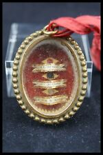 † 19TH SACRED HEART FRENCH V.H.M RELIQUARY ST FRANCIS de SALES 3 RELICS WAX SEAL