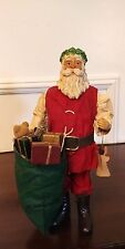 Clothique Possible Dreams 1986 Santa Claus Large Green Toy Bag and Angel