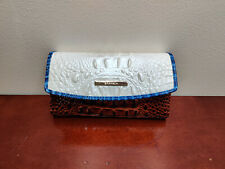 NWT New Brahmin Modern Checkbook Wallet in Daydream Montgomery Style