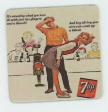 7up Soda - Drink Coaster Funny - Sexist Bowling Ad