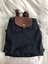 Longchamp Le Pliage Navy Blue Backpack. Great Condition