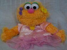 "GUND Sesame Street ZOE in PINK DRESS HAND PUPPET 10"" Plush STUFFED ANIMAL Toy"
