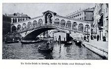 Rialto-Brücke in Venedig vom Einsturz bedroht Historische Aufnahme von 1910